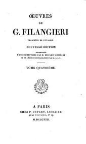 Oeuvres de G. Filangieri: Volume4