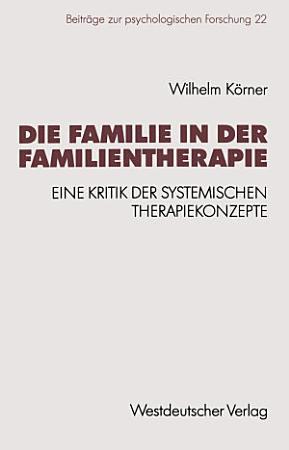 Die Familie in der Familientherapie PDF