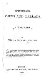 Swinburne's Poems and Ballads: A Criticism