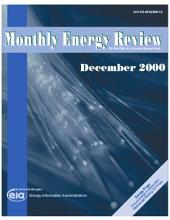 Monthly Energy Review: December 2000