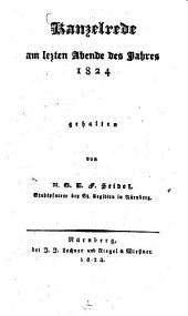 Kanzelrede am letzten Abend des Jahres 1824