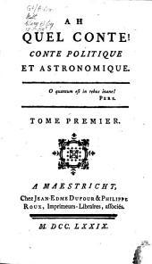 Ah quel conte! conte politique et astronomique