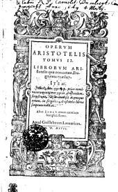 Operum Aristotelis: Τόμος 2