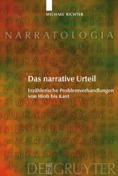 Das narrative Urteil: Erzählerische Problemverhandlungen von Hiob bis Kant