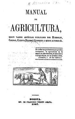 Manual de agricultura  etc