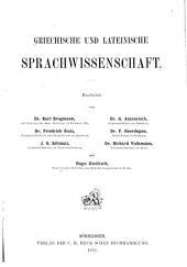 Griechische und lateinische Sprachwissenschaft: Band 25