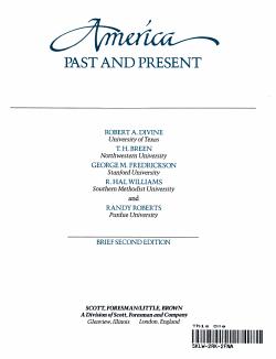 America  Past and Present PDF