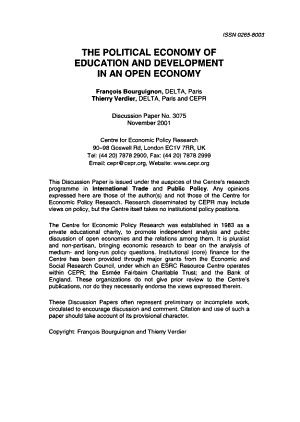 The Political Economy of Education and Development in an Open Economy PDF