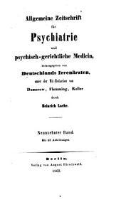 Allgemeine Zeitschrift für Psychiatrie und psychisch-gerichtliche Medizin: Band 19