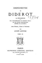 Chefs-d'oeuvre de Diderot: avec préface, notices
