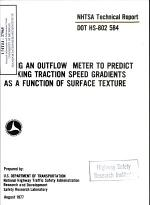 Using an Outflow Meter to Predict Braking Traction Speed Gradients as a Function of Surface Tension. Technical Report