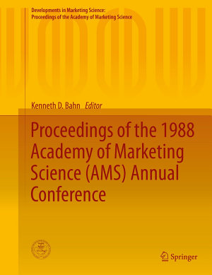 Proceedings of the 1988 Academy of Marketing Science  AMS  Annual Conference PDF