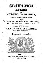 Gramatica latina de Antonio de Nebrija