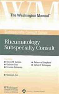 The Washington Manual Rheumatology Subspecialty Consult PDF