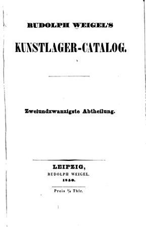 R  Weigel s Kunstcatalog     PDF