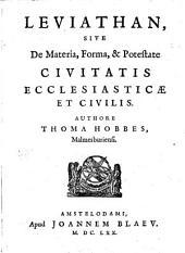 Leviathan, sive de materia, forma et potestate civitatis ecclesiasticae et civilis