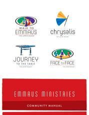 Emmaus Ministries Community Manual