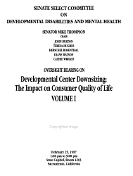 Oversight Hearing On Developmental Center Downsizing Book PDF