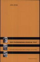Der ph  nomenologische Text PDF