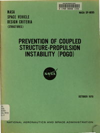 Prevention of Coupled Structure propulsion Instability  pogo   NASA Space Vehicle Design Criteria  Structures
