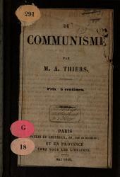 Du Communisme