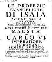 Le profezie evangeliche di Isaia. Azione sacra per musica. La musica e di Antonio Caldara