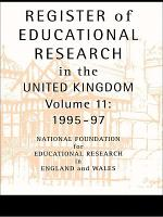Register of Educational Research in the United Kingdom PDF