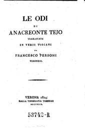 Le odi ... translatate in versi Toscani da Francesco Personi