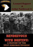 Rendezvous With Destiny  A History Of The 101st Airborne Division PDF