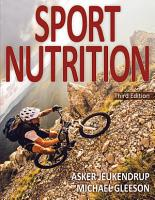 Sport Nutrition 3rd Edition PDF