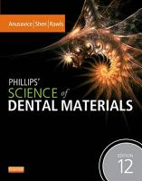 Phillips  Science of Dental Materials   E Book PDF