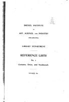 Reference Lists of the Drexel Institute Library PDF