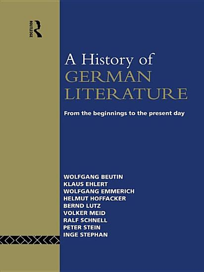 A History of German Literature PDF