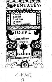 (Testamentum vetus.): Volume 1