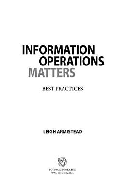 Information Operations Matters PDF