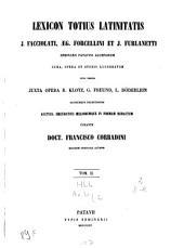 Lexicon totius Latinitatis: D - K, Volume 2