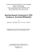Red tide Research Summarized to 1964 PDF