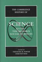 The Cambridge History of Science  Volume 7  The Modern Social Sciences PDF