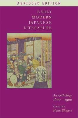 Early Modern Japanese Literature