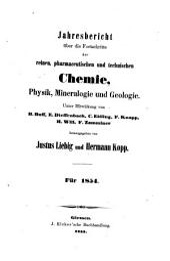 Jahresbericht über die fortschritte der chemie und verwandter teile anderer wissenschaften ...