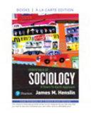 Books A La Carte For Essentials Of Sociology