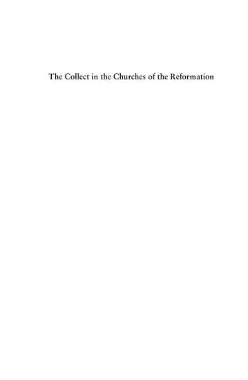 The Collect in the Churches of the Reformation PDF