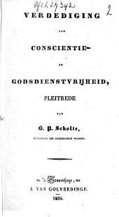 Verdediging van conscientie- en godsdienstvrijheid: pleitrede