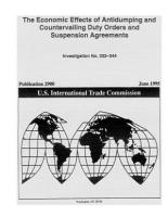 Economic Effects of Antidumping   Countervailing Duty Orders   Suspension Agreements PDF