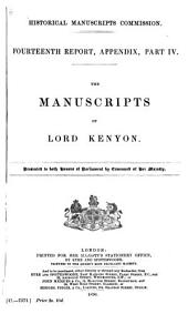 The Manuscripts of Lord Kenyon: Volume 14, Part 4