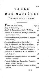 Oeuvres de Fontenelle: des Académies Française, des Sciences, des Belles-lettres, de Londres, de Nancy, de Berlin et de Rome, Volume1