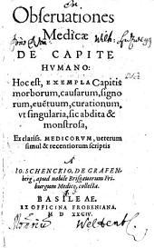 Observationes medicae: Volume 1