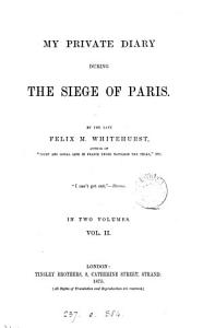 My Private Diary During the Siege of Paris Book