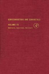 Semiconductors and Semimetals: Volume 15