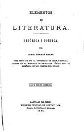Elementos de literatura: retorica i poetica